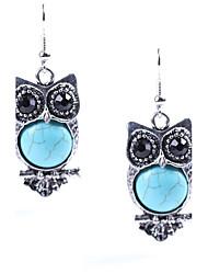 Euramerican Fashion Casual Unique Luxury Female Statement Jewelry Ladies Elegant Drop Earrings For Women Bohemian Tassels Turquoise Dangle Earrings