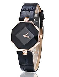 Mulheres Relógio de Moda Relógio Casual Relógio de Pulso Quartzo imitação de diamante Couro Banda Criativo Preta Branco Azul Vermelho