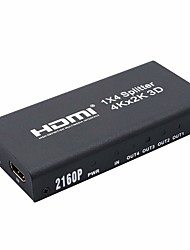 4K HDMI 1x4 2160P Splitter Full HD 1080P Amplifier HDMI Switch Switcher 1 in 4 Out Converter Adapter for HDTV DVD PS3 PS4
