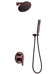 Montagem de Parede Válvula Cerâmica Monocomando Três Buracos for  Bronze Polido a Óleo , Torneira de Chuveiro