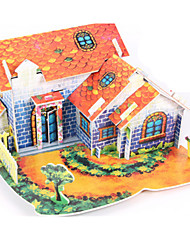 Jigsaw Puzzles DIY KIT 3D Puzzles Building Blocks DIY Toys House Architecture High Quality Paper