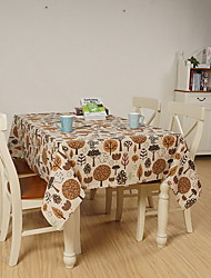 Japanese Style Fantasy Forest Cotton And Linen Table Cloth 70*70cm