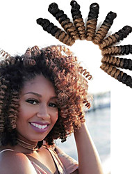 Bouncy Curl crochet hair twist 20inch black/burgundy saniya curl Synthetic kanekalon braiding hair bouncy twist Freetress Braid Kinky Twisted