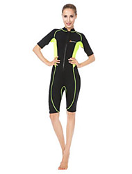 Femme La navigation de plaisance Résistant aux ultraviolets Tenue de plongée Manches LonguesTee-shirts anti-UV, tops thermiques