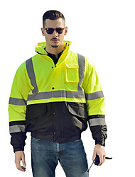 Motorcycle Raincoat Reflective Cotton Coat Winter Traffic On Duty Safety Cotton Top