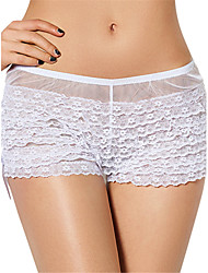 Women's Sexy Lace Underwear Ultra-thin Briefs Low Waist Nightwear Panties Plus Size S-6XL