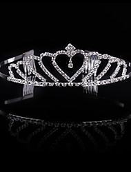 Popular Fashion Girls Princess Christmas Party Bridal Crown Crystal Diamond Tiara Hair Hoop Wedding Bride Headband Hairband