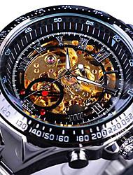 Hombre Reloj de Moda Reloj de Pulsera El reloj mecánico Reloj Casual Chino / Acero Inoxidable Banda Cool Casual Elegantes Plata