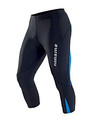 Hombre Pantalones de Running Gimnasio, Correr & Yoga 3/4 Medias/Corsario para Jogging Ejercicio y Fitness Apretado Negro