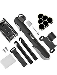 Multi Function Bike Bicycle Tire Repair Tools Kit Mini Bike Pump & Glueless Puncture Repair Kit 120 PSI Bicycle Tire Pump Fits Presta & Schrader Valve