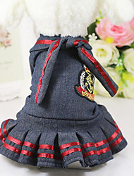 Dog Dress Dog Clothes Casual/Daily Jeans