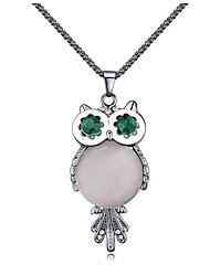 Pendant Chain  Necklace Owl Opal  Women's Euramerican Rock  OL Daily Party Jewelry Business Movie Gift Jewelry