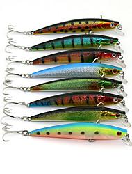 """100 Stück kleiner Fisch g/Unze mm/3.8"""" Zoll,Kunststoff Spinnfischen"""