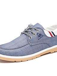 Men's Sneakers Comfort Canvas Spring Summer Fall Winter Casual Outdoor Office & Career Walking Comfort Split Joint Flat HeelLight Blue