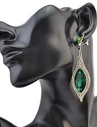 Mujer Pendientes colgantes CristalDiseño Básico Circular Diseño Único Diamantes Sintéticos Geométrico Amistad Turco Gótico Duradero