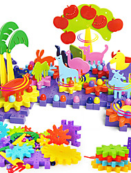 Building Blocks For Gift  Building Blocks Square Plastics 6 Years Old and Above 3-6 years old Toys