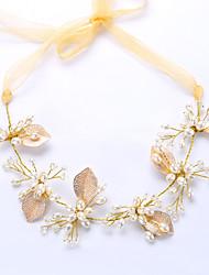 Brass Imitation Pearl Headpiece-Wedding Anniversary Birthday Congratulations Tiaras 1 Piece