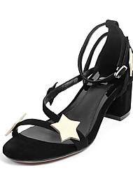 Mujer Sandalias Confort Cuero Nobuck Verano Casual Confort Negro 5 - 7 cms