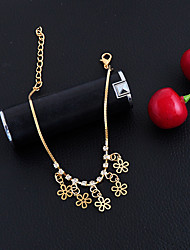 Women's Girls' Anklet/Bracelet Alloy Fashion Vintage Bohemian Punk Hip-Hop Handmade Turkish Gothic Flower Jewelry For Wedding Party