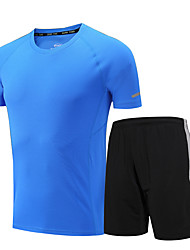 Men's Women's Running T-Shirt with Shorts Short Sleeves Fitness, Running & Yoga Quick Dry Clothing Suits for Running/Jogging Exercise &