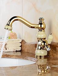 Moderne Soupape céramique 1 trou for  Ti-PVD , Robinet lavabo