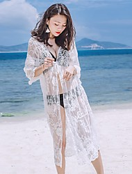 Femme Vêtement couvrant Couleur Pleine Maille Voiles & Transparence