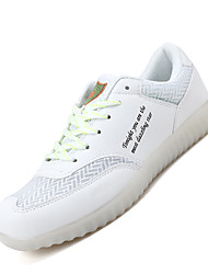 Homme Baskets Confort Chaussures Lumineuses Cuir Printemps Eté Décontracté Confort Chaussures Lumineuses Lacet LED Talon Plat Blanc Noir