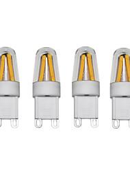 3W Luminárias de LED  Duplo-Pin T 4 COB 250 lm Branco Quente Branco Frio AC220 AC230 AC240 V 4 pçs