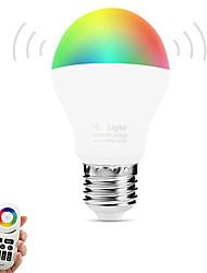 6W Lâmpada de LED Inteligente A60(A19) 14 SMD 5050 600 lm Branco Quente RGB Cor da fonte de luz duplaSensor infravermelho Regulável