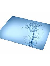 Dob bleu rose tapis de souris tissu en caoutchouc 21.5 * 18 tapis de souris peint