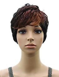 High Temperature Fiber Synthetic  Woman  Auburn Short Layered   Curly  Hair Wig