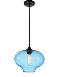 Novo simples contemporâneo contemporâneo pendurado 6 cores vidro bola pingente lâmpada lâmpadas luminárias e27 / e26 para cozinha