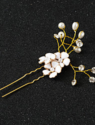 Gold Flower Alloy Headpiece-Wedding Special Occasion Anniversary Congratulations Party/ Evening Thank You Office & CareerHair Pin Hair Stick Hair