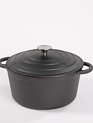 Pre Seasoned Cast Iron Dutch Oven with Dual Handle and Cover Casserole Dish (9.4inch)