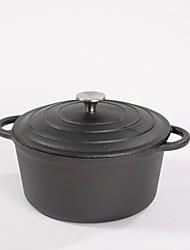Four préchauffage pré-assaisonné en fonte avec double poignée et casser casserole (9,4 po)