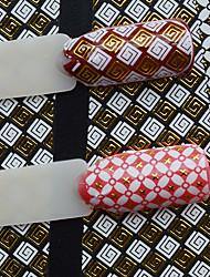 1pcs New Fashion Mixed White&Gold Decoration Beautiful Pattern Design Creative Nail Art DIY 3D Sticker For Nail DIY Beauty BP202