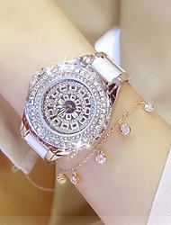 Mulheres Relógio de Moda Relógio de Pulso Bracele Relógio Único Criativo relógio Relógio Casual Simulado Diamante Relógio Chinês Quartzo
