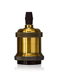 1 pcs e26 / e27 vis brosse à lampe support edison rétro lampe suspension sans cordon et commutateur