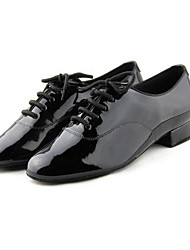 Men's Latin PU Heels Practice Black