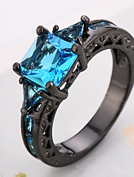 Ring Women's Euramerican Luxury Classic Blue  Imitation Diamond  Ring Daily Party  Movie Business Gift Jewelry