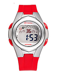 Kid's Sport Watch Fashion Watch Digital Water Resistant / Water Proof Rubber Band Red Orange Green