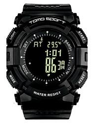 Men's Sport Watch Fashion Watch Digital Altimeter Water Resistant / Water Proof Pedometer Stopwatch Rubber Band Black