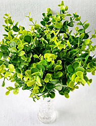 Simulation Money Leaf 7 Large Plastic Flower Potted Simulation Flowers Decorated Green Plants 10 Branch/Set