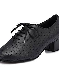 Damen Latin Kunstleder Sneaker Professionell Stöckelabsatz Schwarz 5 - 6,8 cm Maßfertigung