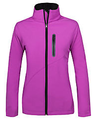 Women's Hiking Softshell Jacket Ventilation Anti-Wear Thermal / Warm Windproof Fleece Lining Wearable Tops for Running/Jogging Camping /