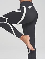 Women's Medium Stitching Legging,Striped