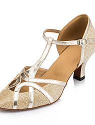 Damen Modern Kunstleder Sandalen Sneaker Professionell Verschlussschnalle Stöckelabsatz Gold Schwarz Silber 5 - 6,8 cm Maßfertigung