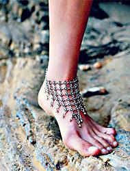 Femme Bracelet de cheville/Bracelet Alliage Mode Forme de Fleur Bijoux Pour Quotidien Décontracté Vêtements de Plein Air Sortie