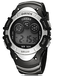 OHSEN Men's Fashion Casual Unique Luxury Silicone Digital Watches Clock Relogio Masculino Hodinky Hour Handmade