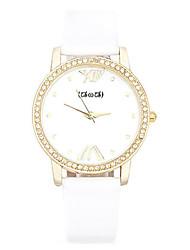 Mulheres Relógio de Moda Quartzo Couro Banda Branco